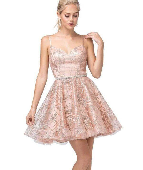 Dancing Queen Dress Style 3185 in Rose Gold