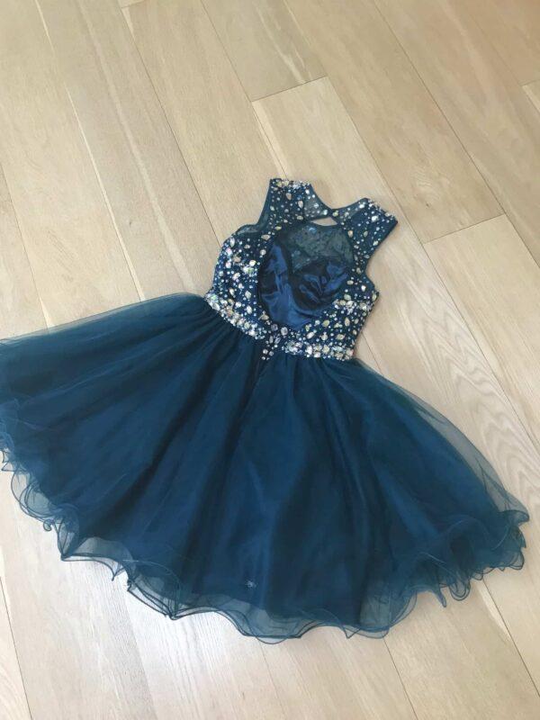 Blush Prom Midnight Green Dress Size 0 Back