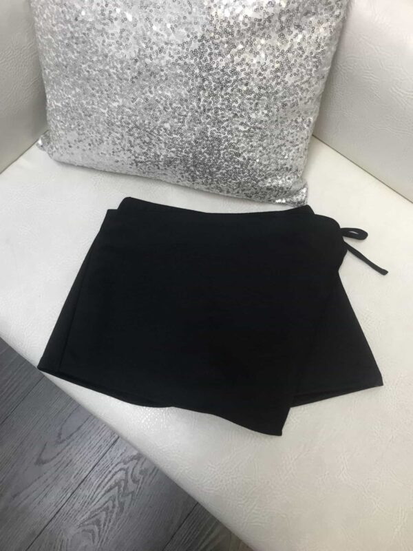 Dolls and Divas Couture Skort in Black from Silhouette London, Girls party dress specialists in London