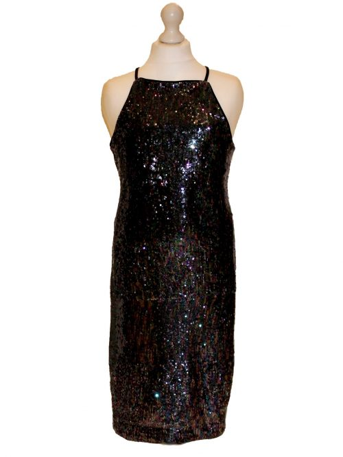 Pre-Loved' Sequin Bodycon Dress in Black from Silhouette London, Dress specialists in London