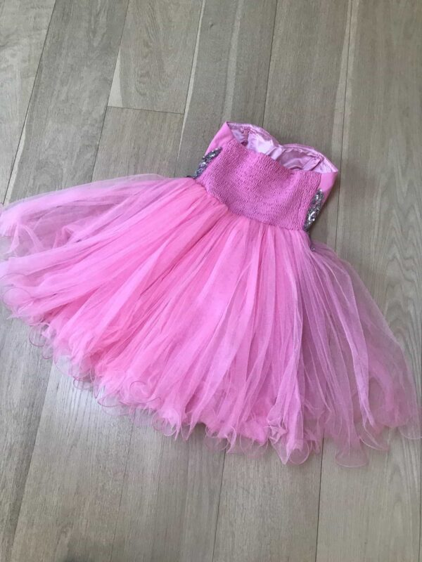 Quiz Baby Pink Dress Size 6 Back