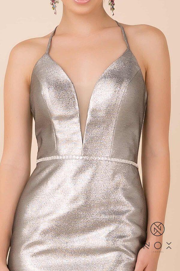Nox Anabel Dress Style M690 in Silver | Silhouette London