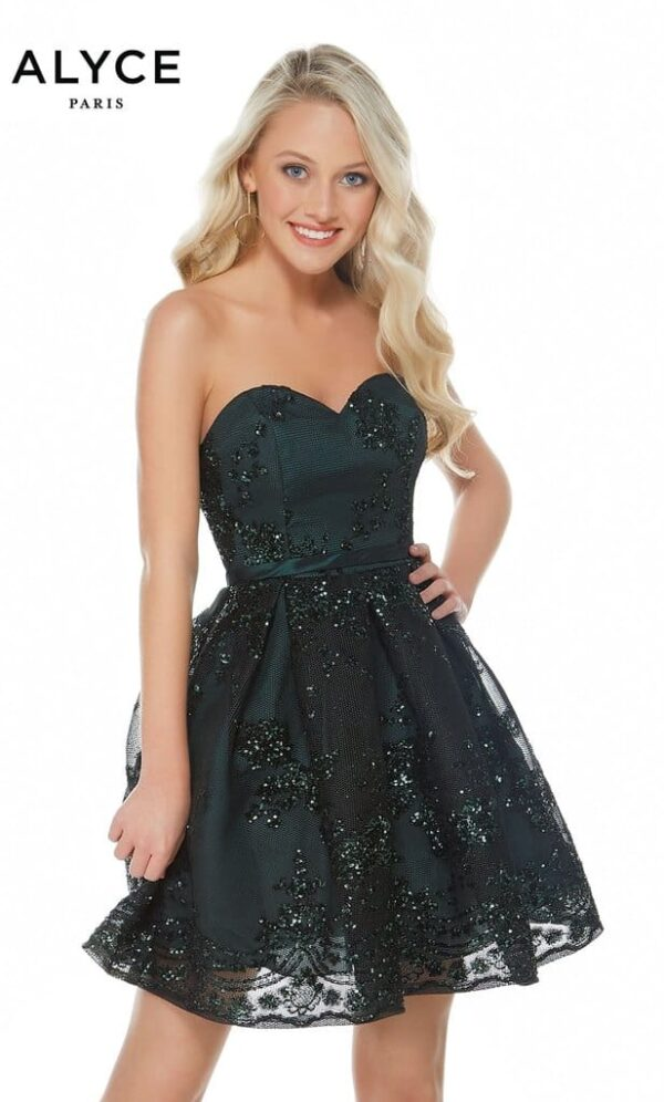 Alyce Paris Dress Style 2650 in Forest Green   Silhouette London