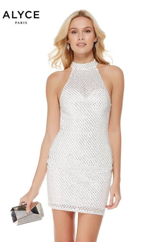 Alyce Paris Dress Style 2654 in Diamond White   Silhouette London