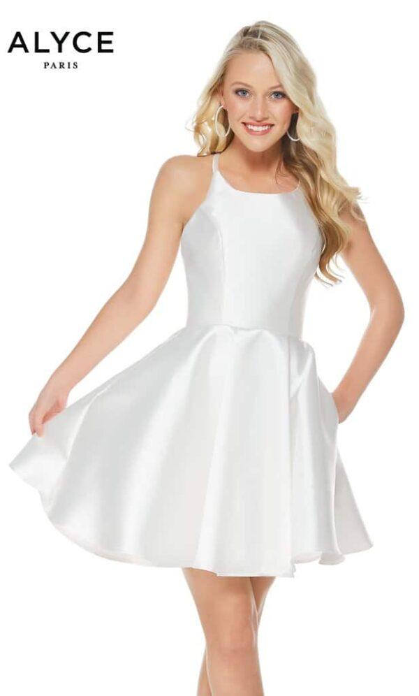 Alyce Paris Dress Style 3703 - Diamond White