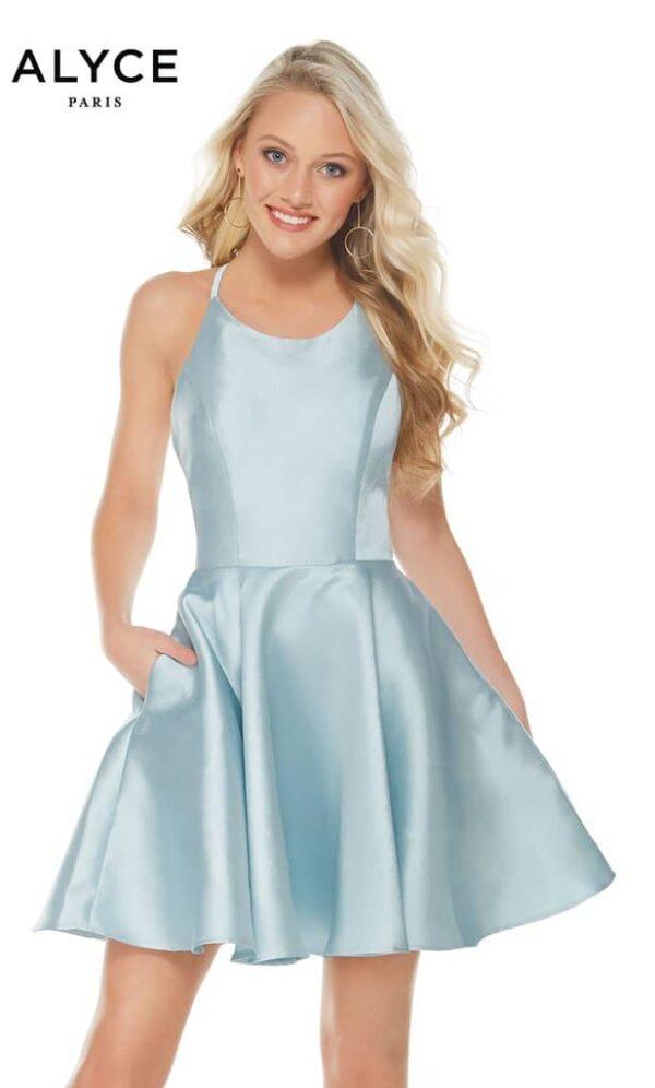 Alyce Paris Dress Style 3703 - Ice Blue