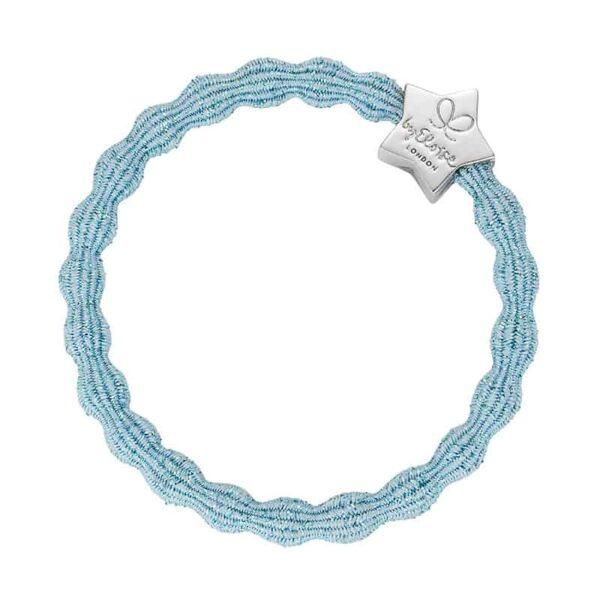 ByEloise Metallic Silver Star Light Blue