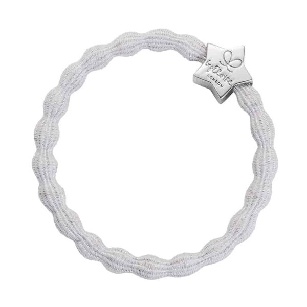 ByEloise Metallic Silver Star White