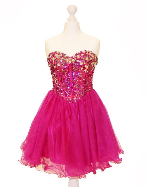'Pre-Loved' Alyce Paris Style 3615 in Fushia from Silhouette London, Girls party dress specialist in London