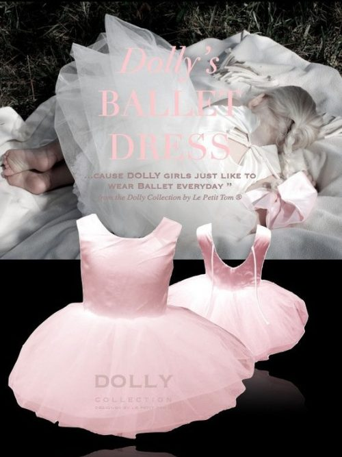 Light Pink Dolly Ballet dress with gorgeous tulle ballet skirt from Silhouette London, Girls party dress specialists in London