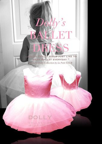 Hot Pink Dolly Ballet dress with tulle ballet skirt from from Silhouette London, Girls party dress specialists in Greater London