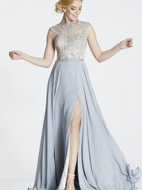 tiffanys illusion prom silver sunny