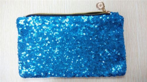 Turquoise Sequin Clutch Bag from Silhouette London a Prom and Party Fashion Boutique in Greater London