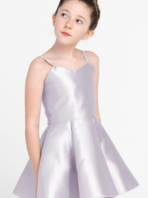 Young Girl wearing Zoe Ltd Alana Dress in Lavender from Silhouette London a Year 6 Prom and Party Dress Boutique in London