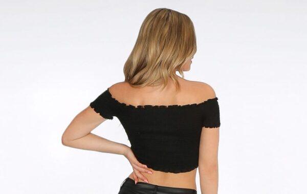 22251 shirred jersey bardot top black backfull 15262.1561012106 2