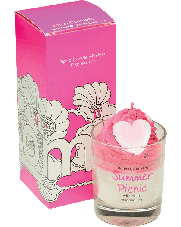 Summer Picnic Piped Candle