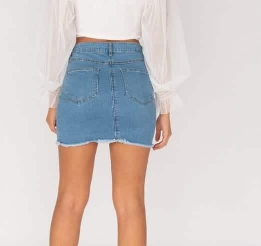 distressed frayed hem denim mini skirt p8517 760129 medium 2
