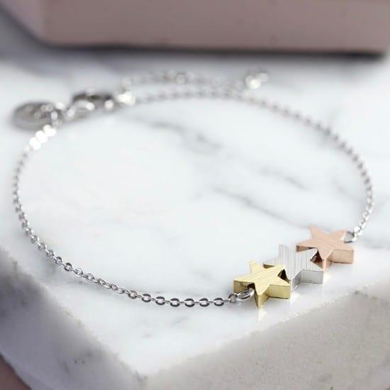 lisa angel brushed mixed metal triple star bracelet 4x3a0441 550x550 1