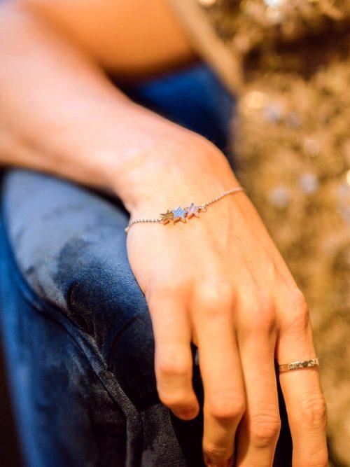 lisa angel brushed mixed metal triple star bracelet amy jade 163 900x900 1