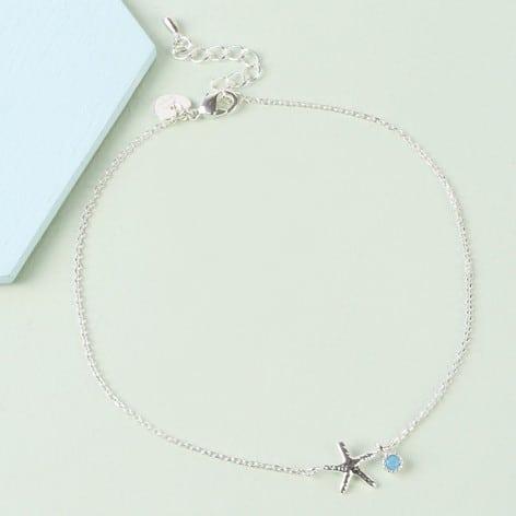 lisa angel starfish blue gem charm anklet silver O21A1615 472x472 1