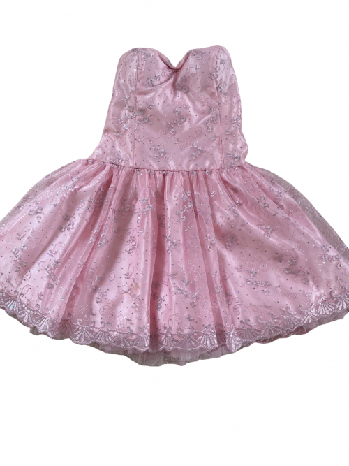Jessica Mclintock Pink and Silver Strapless Dress Orlina