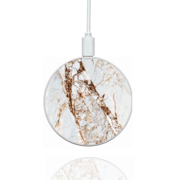 Rose Gold Marble Wireless Charger | Silhouette London