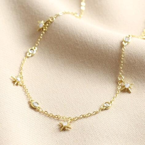 Lisa Angel crystal star charm choker necklace gold 0v8a1883 472x472 1