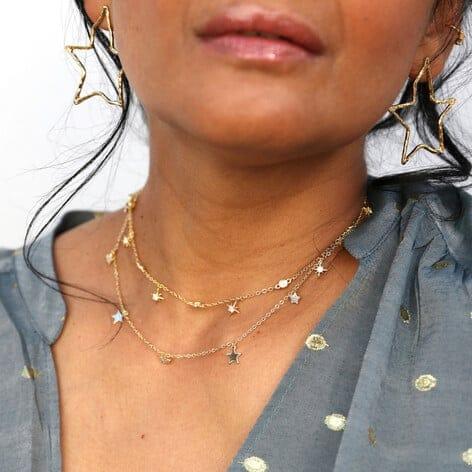 Lisa Angel crystal star charm choker necklace gold 0v8a5082 472x472 1