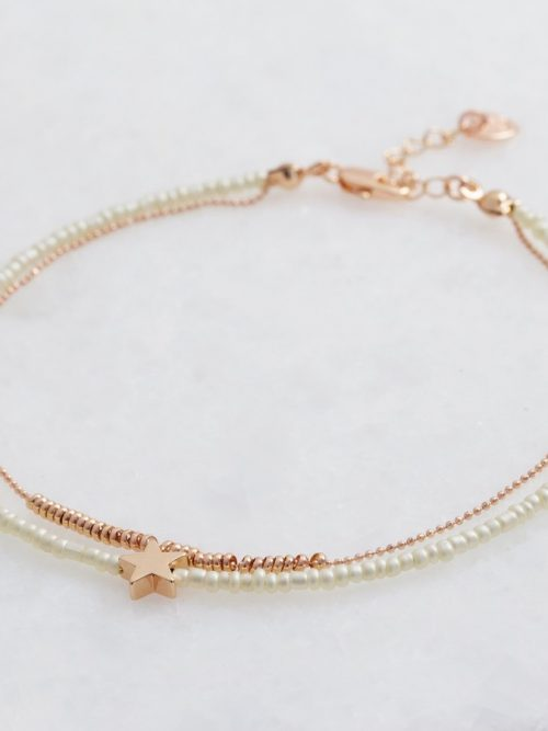 Lisa Angel rose gold and cream beaded anklet o21a1093 900x900 1