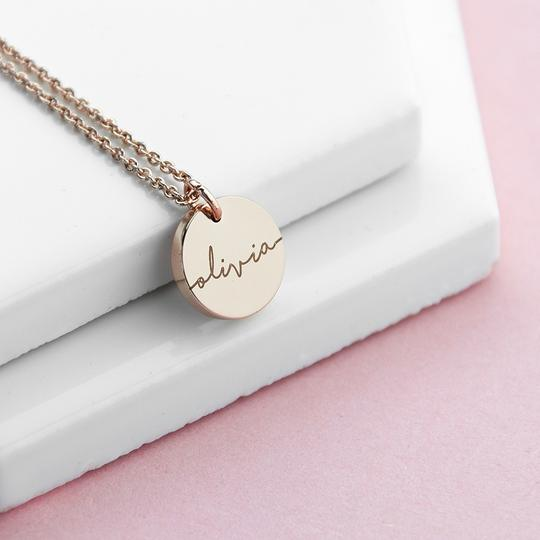 personalised disc necklace per3753