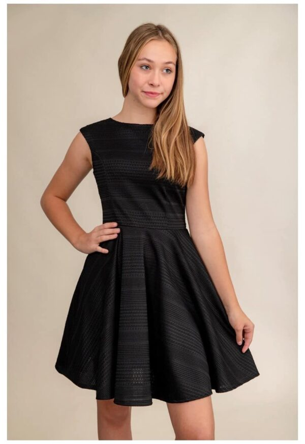 Cap Sleeve Black Crochet