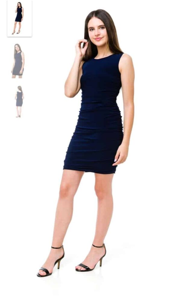Ruched Bodycon Navy
