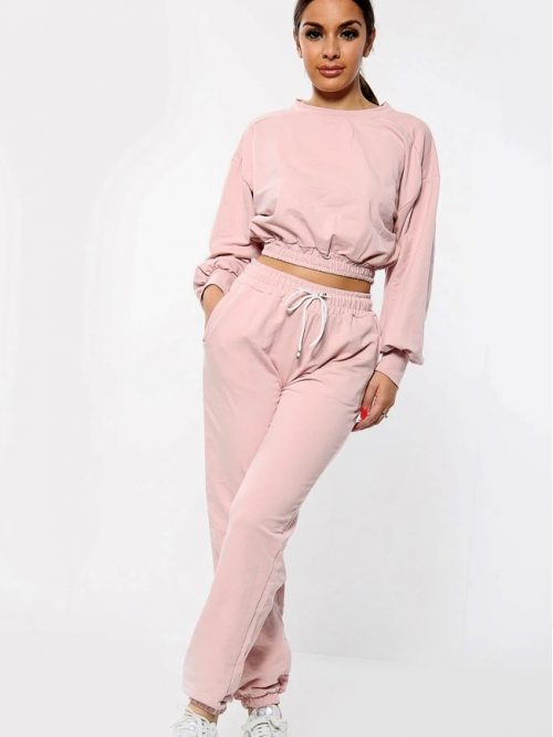Crop Co Ord Dusky Pink