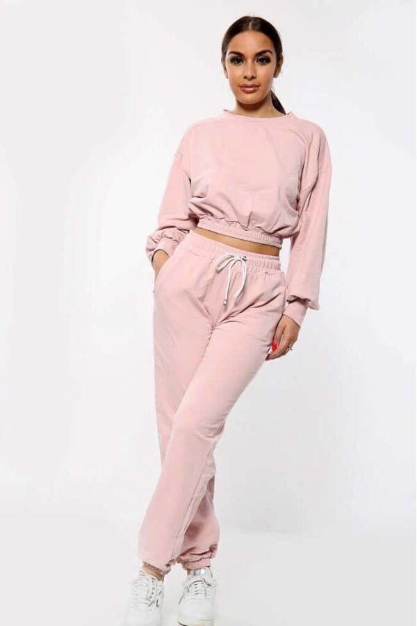 Crop Co Ord Dusky Pink