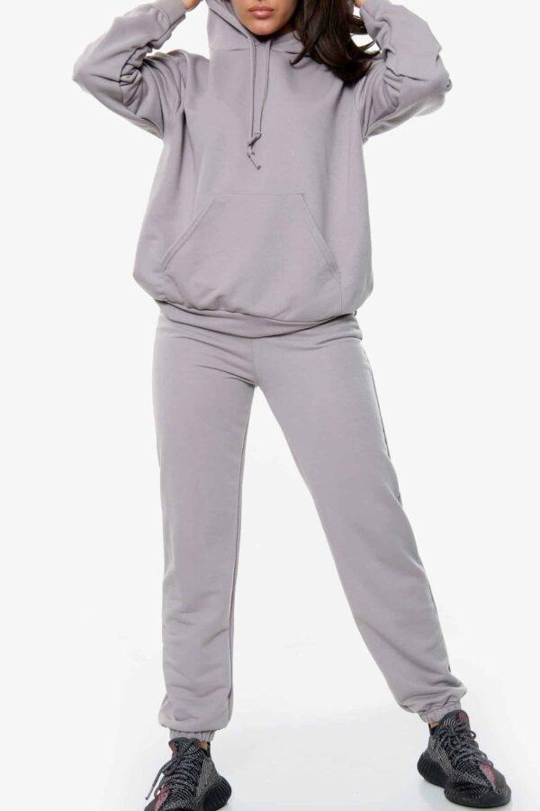 Oversized Hoodie Grey Set