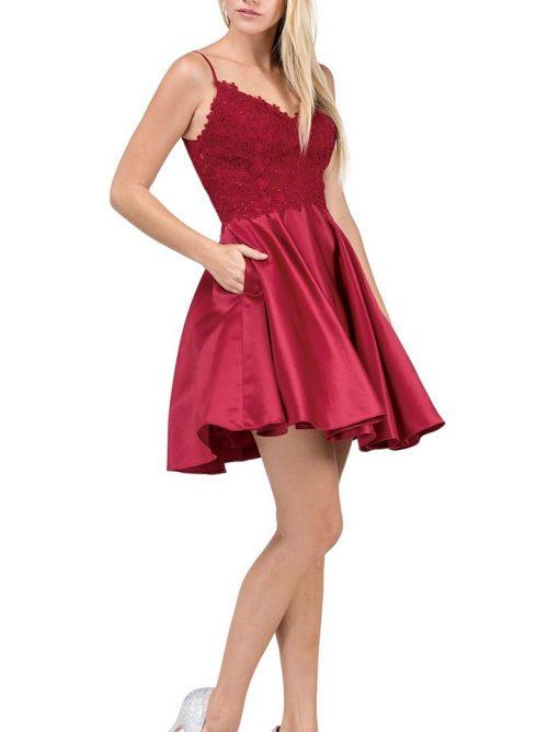 Dancing Queen Dress 3037 Burgundy   Silhouette London