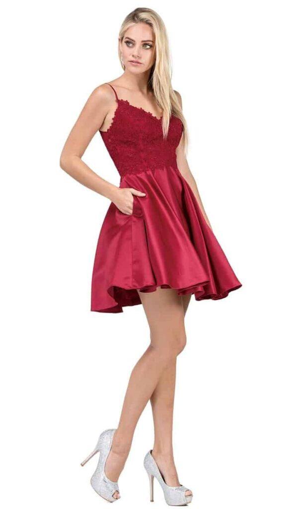 Dancing Queen Dress 3037 Burgundy | Silhouette London