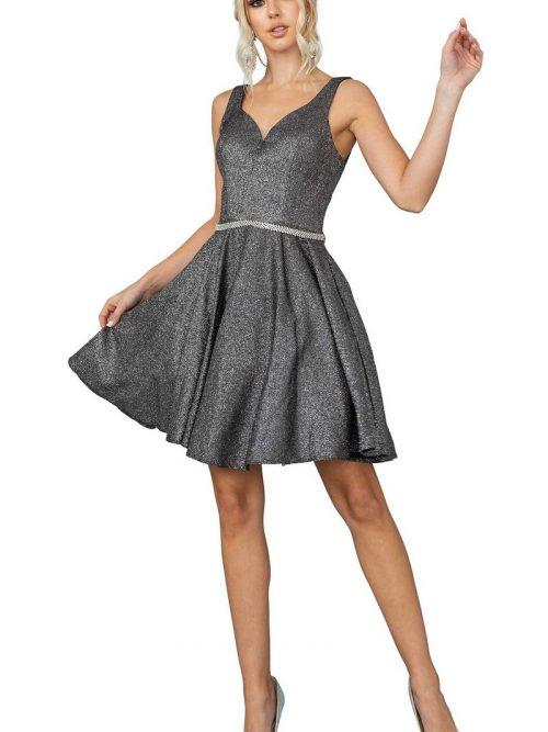 Dancing Queen Dress 3142 in Charcoal   Silhouette London