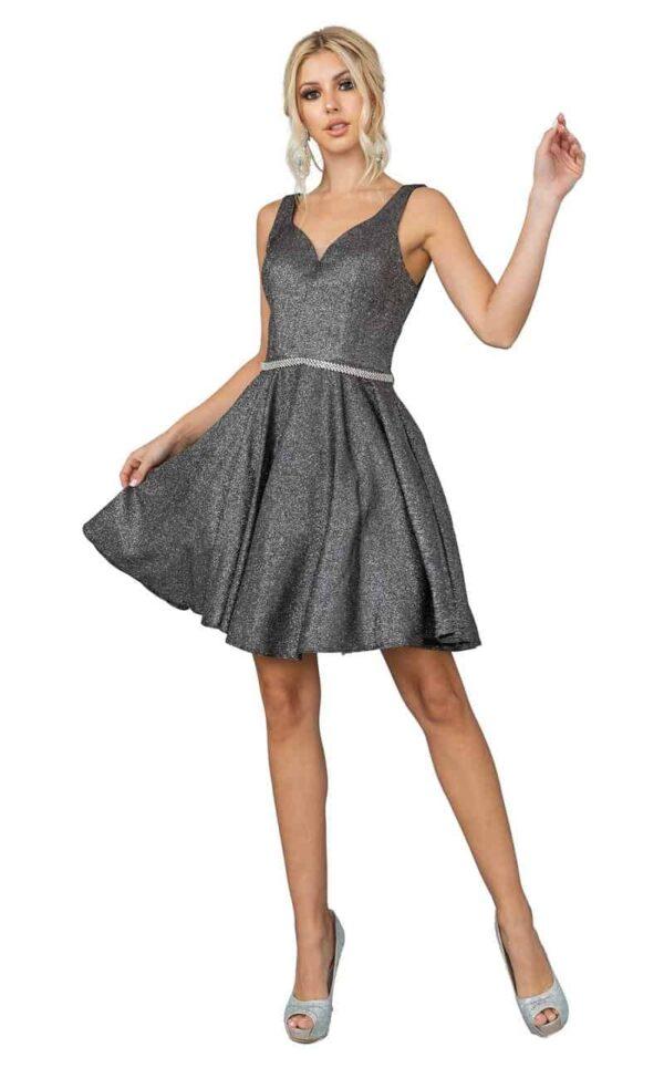 Dancing Queen Dress 3142 in Charcoal | Silhouette London