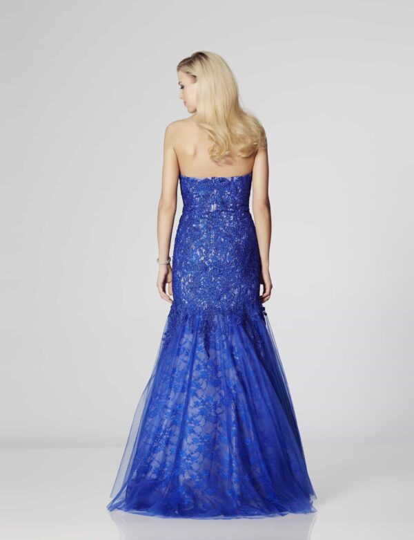 Tiffany Illusion Prom Catalina in Royal Blue   Silhouette London