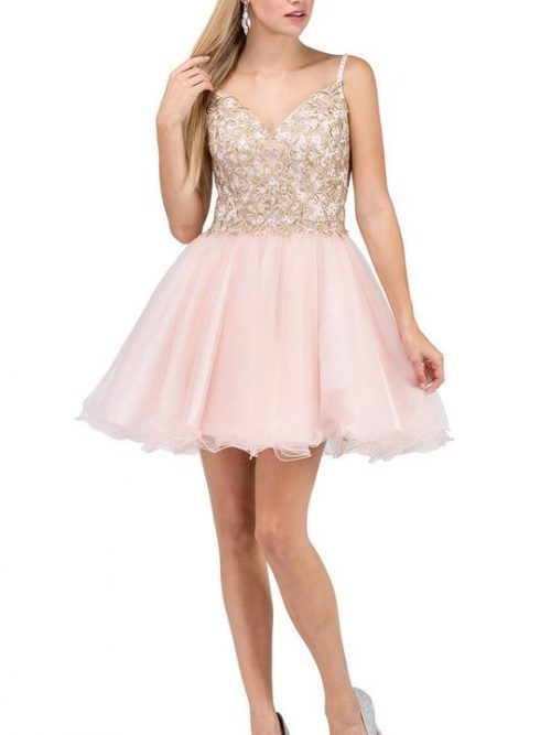 Dancing Queen Dress Style 3021 in Blush