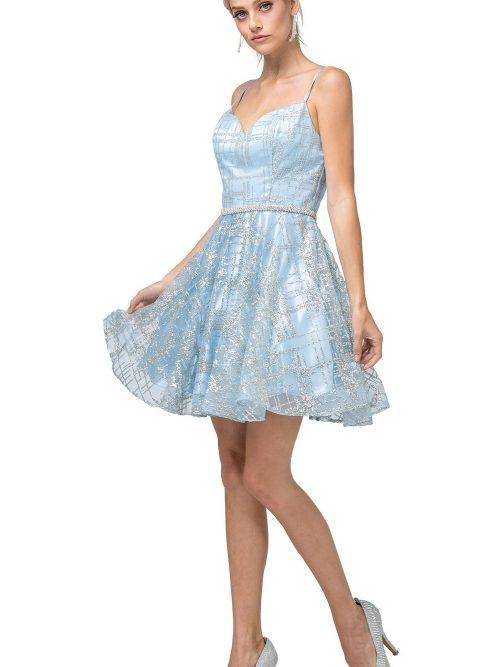 Dancing Queen Dress Style 3185 in Sky Blue