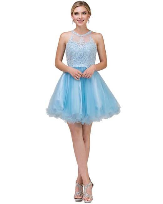 Dancing Queen Dress Style 2156 in Sky Blue