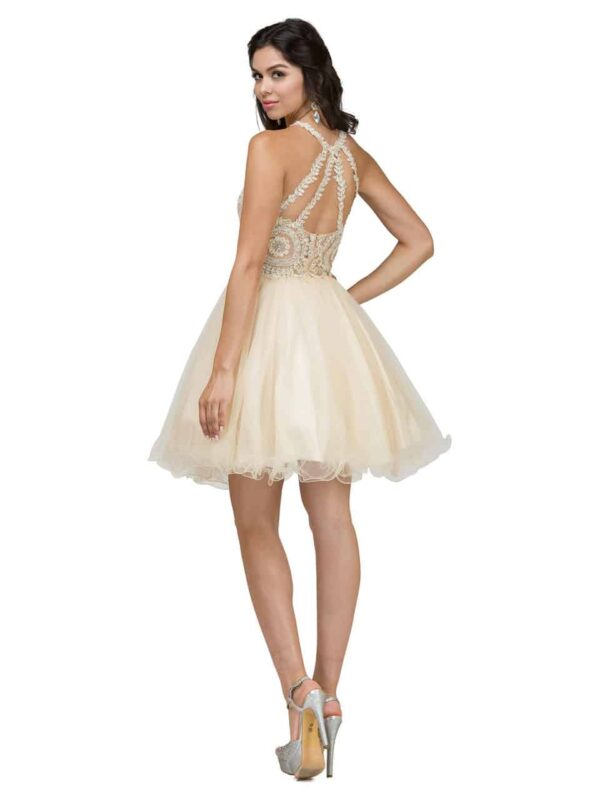 dancing queen dress style 2156 CHAMPAGNE back